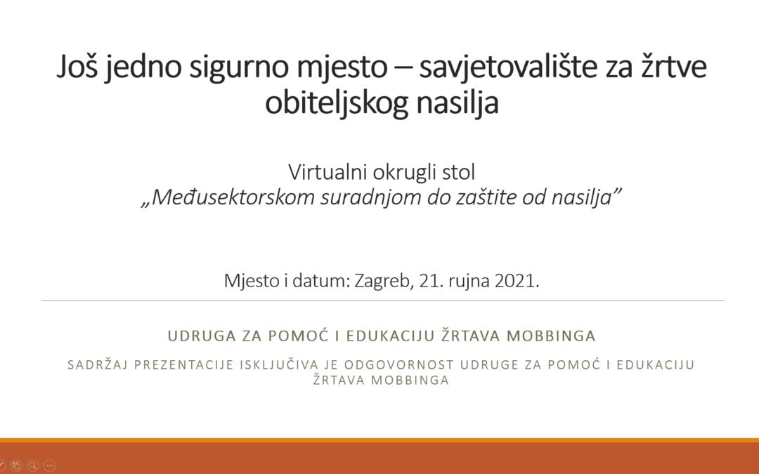 Virtualni okrugli stol «Međusektorskom suradnjom do zaštite od nasilja»